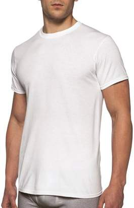 Gildan Mens Short Sleeve Crew White T-Shirt, 6-Pack