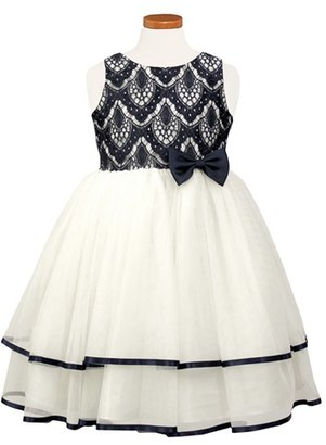 Toddler Girl's Sorbet Tiered Lace & Tulle Dress $60 thestylecure.com