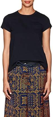 Sacai Women's Jersey & Pleated Tulle T-Shirt