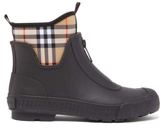 Burberry Flinton Vintage Checked Boots - Womens - Black Beige