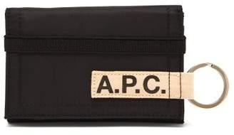 A.P.C. Pozzo Foldover Wallet - Mens - Black