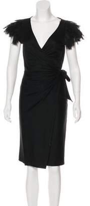 Diane von Furstenberg Wool Beulah Wrap Dress