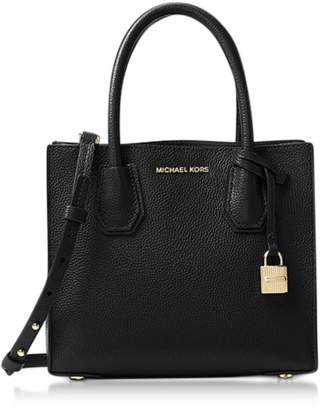Michael Kors Mercer Medium Black Pebble Leather Crossbody Bag