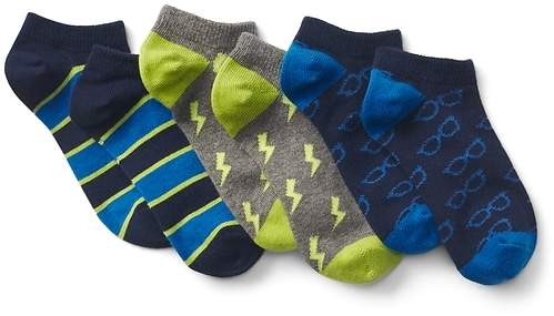 Graphic No-Show Socks (3-Pairs)