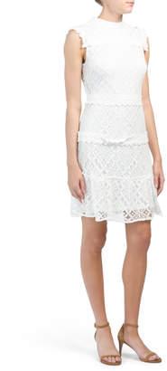 Julia Jordan Tiered Lace Dress