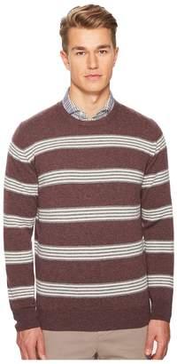 Eleventy Striped Cashmere Crew Neck Sweater