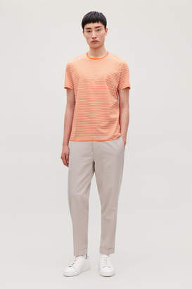 Cos STRIPED COTTON T-SHIRT