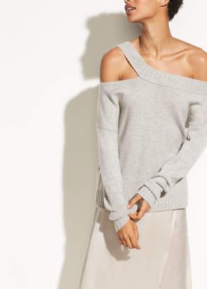 Off Shoulder Slit Pullover