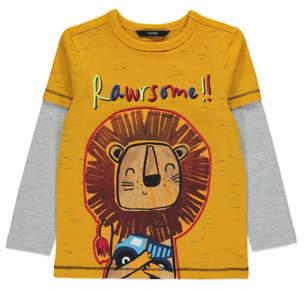George Yellow Lion Long Sleeve Top