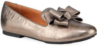 Gentle Souls Eugene Metallic Bow Loafers