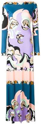 Emilio Pucci abstract printed long dress