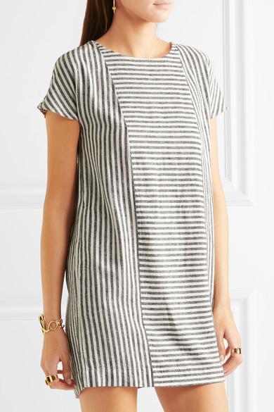 Madewell - Daphne Striped Linen-blend Mini Dress - Gray 5