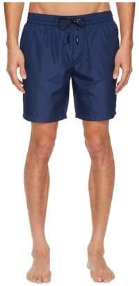 Dolce & Gabbana Mid Length Solid Swimsuit Boxer w/ Bag Men's Swimwear