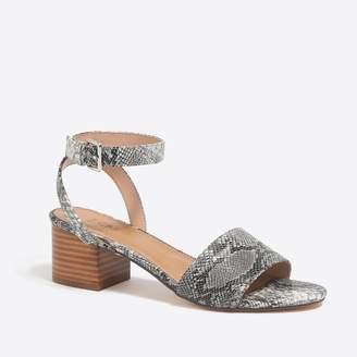J.Crew Factory Snakeskin block-heel sandals