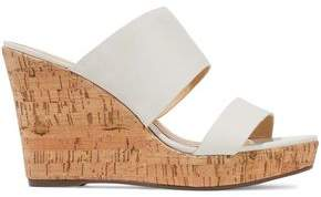 Schutz Kai Leather Wedge Sandals