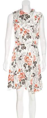 Victoria Beckham Printed Knee-Length Dress w/ Tags