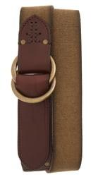 Frye Canvas O-Ring Belt