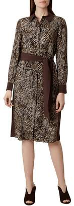 Hobbs London Lola Snake Print Shirt Dress