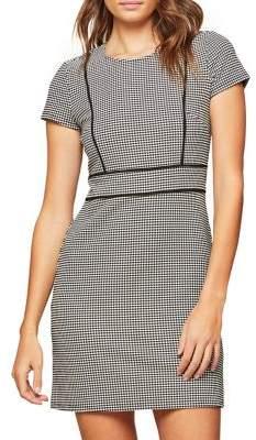Miss Selfridge Mono Piped Mini Sheath Dress