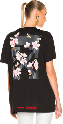 OFF-WHITE Cherry Flower Oversized Tee $330 thestylecure.com