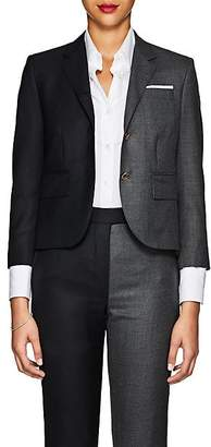 Thom Browne Women's Classic Two-Tone Wool Three-Button Blazer - Dark Gray