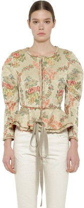 Brock Collection Floral Jacquard Jacket