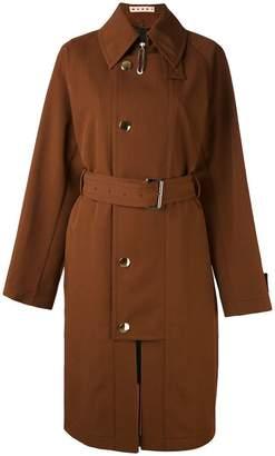 Marni flap closure trench coat