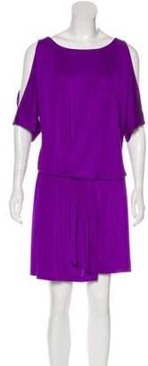 Jay Godfrey Cold-Shoulder Knee-Length Dress