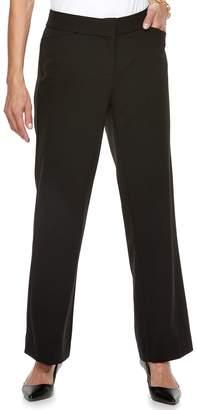 Dana Buchman Women's Midrise Curvy Fit Dress Pants
