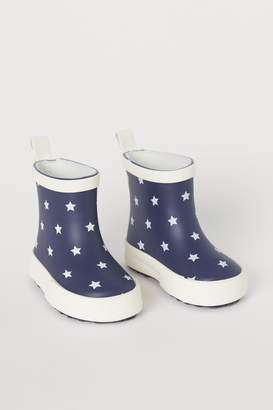 H&M Patterned Rubber Boots - Blue