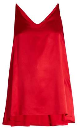 ADAM by Adam Lippes Step Hem Silk Satin Cami Top - Womens - Red