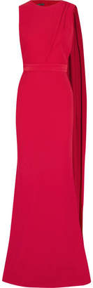 Alexander McQueen - Draped Cutout Crepe Gown - Red