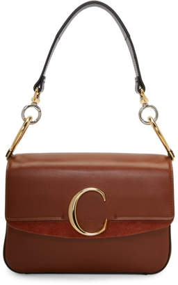 Chloé Brown Small C Double Carry Bag