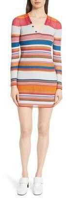 Rag & Bone Katie Metallic Stripe Dress
