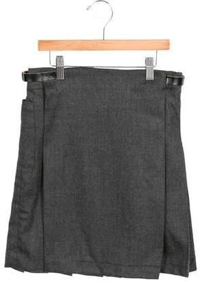 Marni Junior Girls' Wool Pleated Skirt