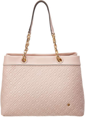 Tory Burch Fleming Triple-Compartment Leather Tote