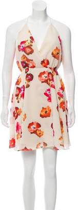 Haute Hippie Floral Print Midi Dress w/ Tags