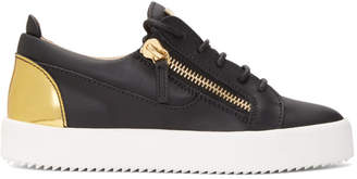 Giuseppe Zanotti Black and Gold May London Sneakers