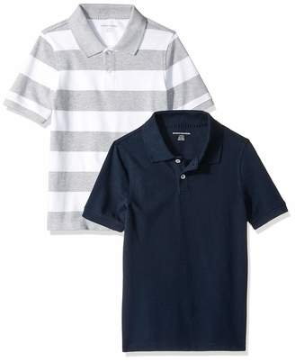 Amazon Essentials 2-Pack Uniform Pique Polo Shirt
