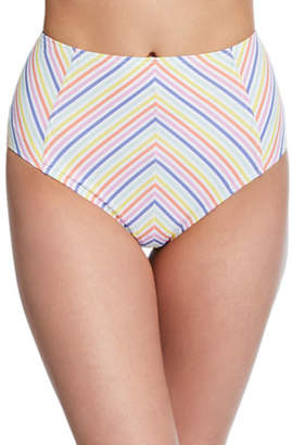 Kate Spade High-Waist Striped Bikini Bottom