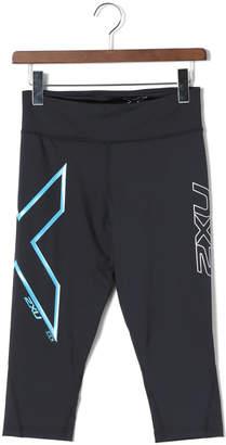 2XU (ツー タイムズ ユー) - 2XU ICE MID-RISE COMP 3/4 クロップド パンツ ブラックxブルー xxs