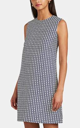 Valentino Women's Logo Wool-Silk A-Line Shift Dress - Blue
