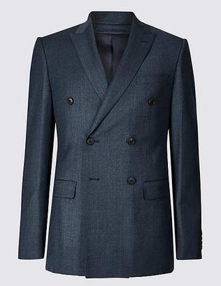 Marks and Spencer Textured Tailored Fit Wool Jacket