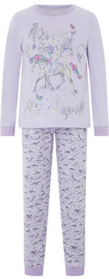 Monsoon Hannah Horse Jersey Pyjama Set