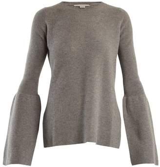 Stella McCartney Flare Sleeved Wool Sweater - Womens - Light Grey