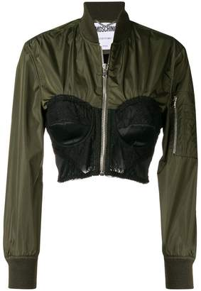 Moschino bustier zipped jacket