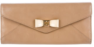 Tory Burch Tory Burch Bow-Embellished Leather Wallet