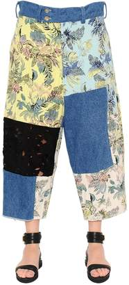 Patchwork Brocade, Denim & Lace Pants
