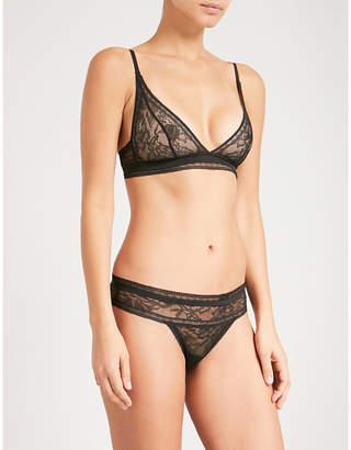 Calvin Klein Black Obsess lace triangle bra