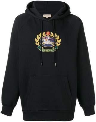 Burberry embroidered logo hoodie